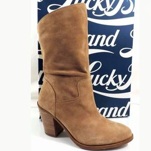 Lucky Emberleigh Slouch Mid Shaft Suede Boots